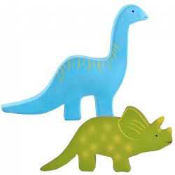 Baby Dino Natural Rubber Toy & Teether - Set of 2