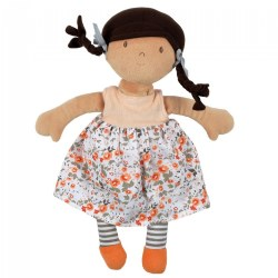 Aleah Brunette Doll with Heat Pack - Removable Flower Printed Dress