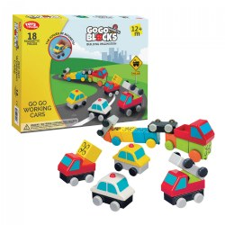 Go Go Working Cars - 18 Piece - Magnetic Blocks Set