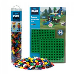 Plus-Plus® 240 Piece Basic Color Tube Set & Baseplate Duo - Building STEM Toy
