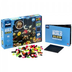 Plus-Plus® Learn to Build Glow in the Dark Mix - STEM Building Set - 400 Pcs & Baseplate