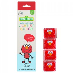 Glo Pals Sesame Street Light Up Elmo Water Cubes - Red