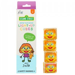 Glo Pals Sesame Street Light Up Julia Water Cubes - Orange