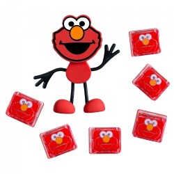 Glo Pals Sesame Street Character Elmo & 6 Red Elmo Light Up Water Cubes