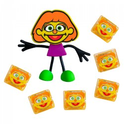Glo Pals Sesame Street Character Julia & 6 Orange Julia Light Up Water Cubes