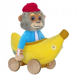 Bananas Gorilla Soft Toy With Bananamobile 7.5""