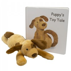"Puppy Soft Plush & ""Puppy's Toy Tale"" Board Book"