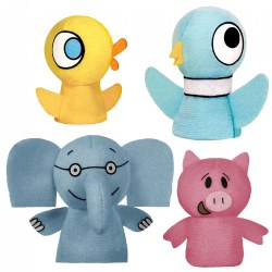Mo Willems Elephant/Piggie & Pigeon/Duckling Finger Puppets