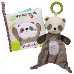 Happy Little Panda Teether & Crinkle Cloth Activity Book