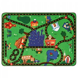 "Cruisin' Around the Town Carpet - 3'10"" x 5'5"" - Factory Second"