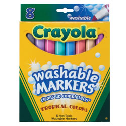 Crayola® 8-Count Tropical Colors Washable Markers (Single Box)