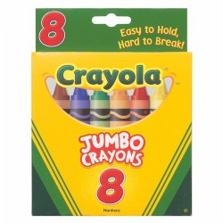 Crayola® 8-Count Crayons - Jumbo (So Big) Size (Single Box)