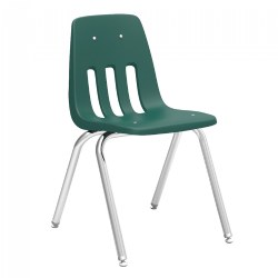 "16"" Forest Green Stack Chair"