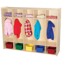 Classic Maple Laminate 5-Section Locker