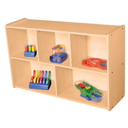 Classic Maple Laminate 5-Compartment Storage Unit