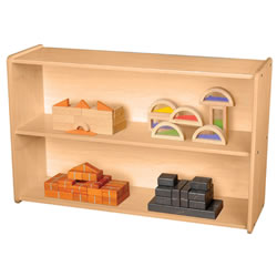 Classic Maple Laminate 2-Shelf Storage Unit