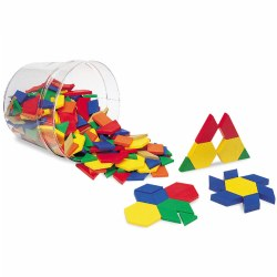 Plastic Pattern Blocks - 250 Pieces