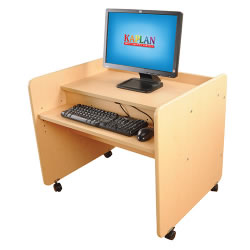 Classic Maple Laminate Single Computer Desk