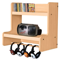 Classic Maple Laminate Wall Combo Listening Center