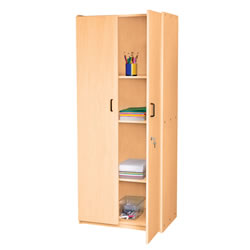 Classic Maple Laminate Teacher Storage Cabinet