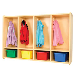 Classic Maple Laminate 4-Section Toddler Locker