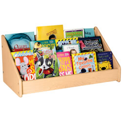 Classic Maple Laminate Easy Reach Book Display