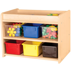 Classic Maple Laminate Mini Storage Unit