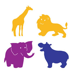 SureCut Dies - Zoo Animals Large Die Set (Set of 4)
