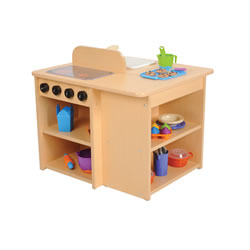 Classic Maple Toddler Kitchen