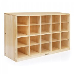 Premium Solid Maple 20-Bin Storage