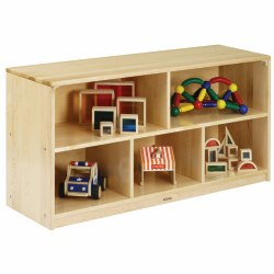 Premium Solid Maple Toddler 5-Compartment Storage Unit