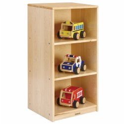 Premium Solid Maple 3-Shelf Narrow Storage (Solid Back)