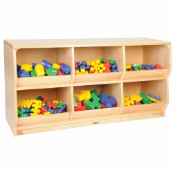 Premium Solid Maple Preschool Play-Bin Storage