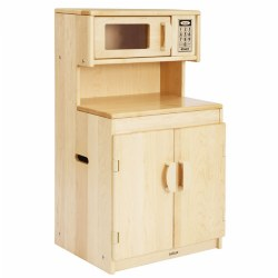 Premium Solid Maple Cupboard/Microwave