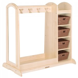 Premium Solid Maple Dress-Up Center with 4 Baskets