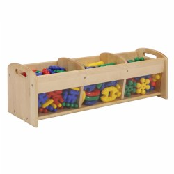 "Perfectly sized storage unit invites toddlers to make independent choices. The see-through sides allow for easy viewing of learning materials and encourages involvement. Measures 12""H x 38""W x 12""D. Contents not included."