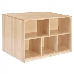 Premium Solid Maple Toddler Storage Island