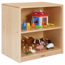 "24"" Two-Shelf Maple Toddler Storage"