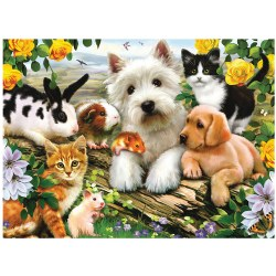 Happy Animals 300-Piece Jigsaw Puzzle