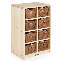 Premium Solid Maple 8 Cubby Storage