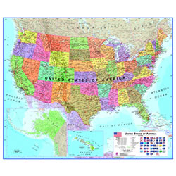 Laminated US Map