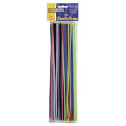 100 Pack Pipe Cleaners (Hot Colors)
