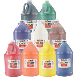 Kaplan Kolors Tempera Paint Gallon Assortment (Set of 8)