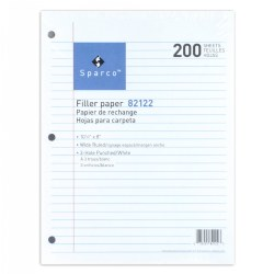 Notebook Filler Paper - 200 Sheets