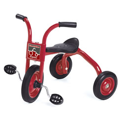 Red powder-coated frame and comfort back support. Made by Angeles®, a name you can trust and the industry standard for over 40 years. Comes fully assembled with a 5-year guarantee. Comes with solid rubber tires, spokeless steel wheels and no pinch points.