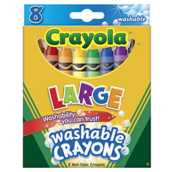 Crayola® Large 8-Count Washable Crayons (12 Boxes)