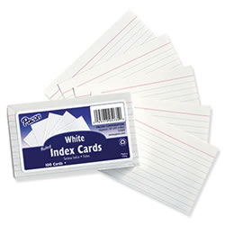 Ruled 3 x 5 Index Cards