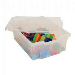 "Clear Gratnell Storage Tray 6"" Deep"