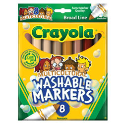 Crayola® 8-Count Multicultural Washable Markers (Single Box)
