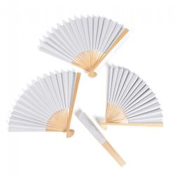 DIY Ready to Decorate Paper Fans for Arts and Crafts Projects